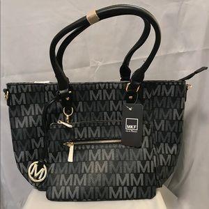 NWT - Mia Farrow handbag w/matching clutch